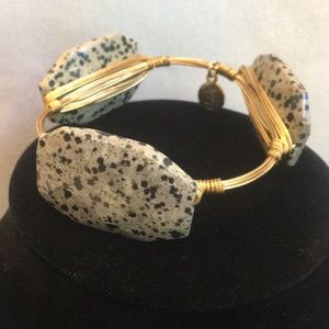 Bourbon and bowties speckled stone bracelet bangle